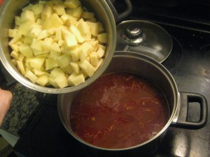 goulash with potatoes added