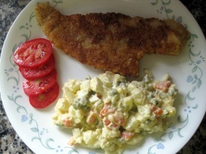 Slovak Christmas fried fish