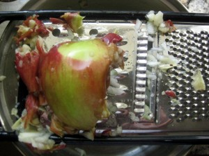 grate the apple