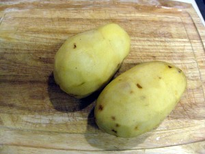 peeled potatoes