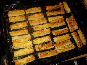 pastry sticks after baking
