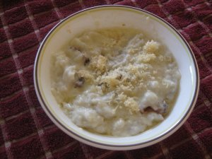 halusky with oštiepok cheese