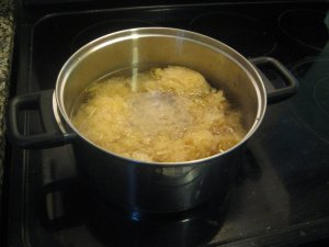 sauerkraut cooking