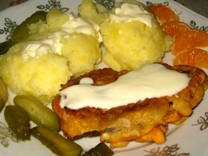 Shepherd's Schnitzel - Breaded Steak with Bacon and Cheese