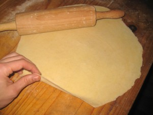final dough is 1 mm thick