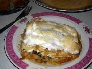Slovak jablkova zemlovka (apple bread pie)