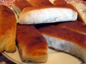 buns (buchty) after baking