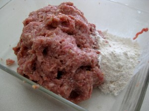 meat mixture ready for making fasirka