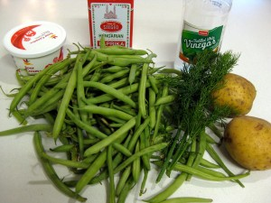 ingredients for green bean soup
