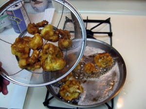 cauliflower frying