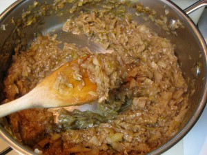 stewed cabbage with sugar and cinnamon