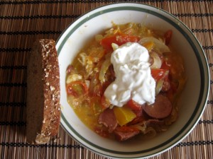 leco slovak vegetable stew
