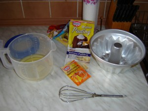 ingredients for babovka pound cake form