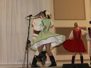 Slovak folk dancers