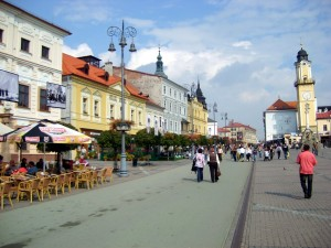 town square of banska bystrica
