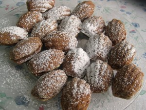 Slovak walnut Madeleine Christmas cookies filled with cream oriesky