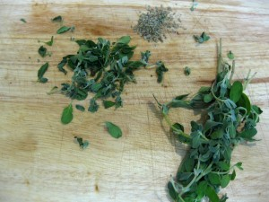 fresh and dried marjoram