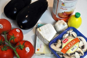 ingredients for baked eggplant