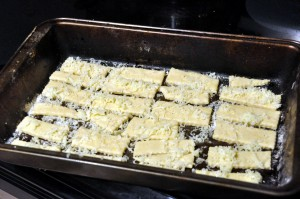 cheese sticks before baking