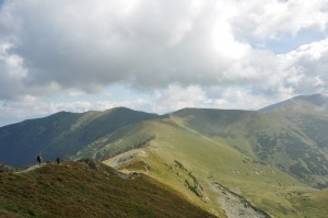 slovak mountain scenery in low tatras