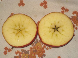 a sliced apple star