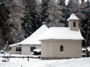 snow covered slovak church