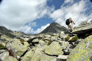hiker in high tatras