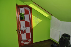 brightly colored room