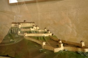 spis castle model before burning down