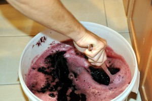 stirring wine