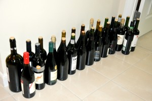 home made wine bottles