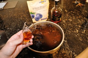 add rum to plums