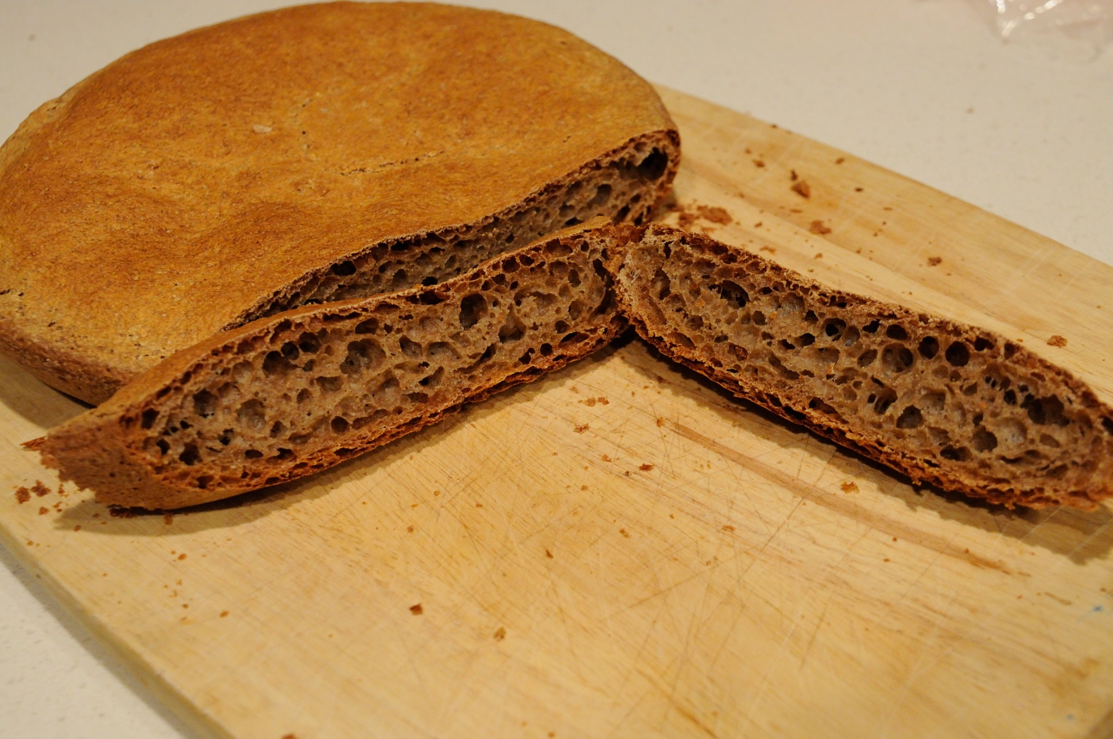 whole wheat bread Whole wheat flour is 100% stone ground from dark northern hard red wheat, with all of the nutritious bran and germ still intact this high-protein flour is the tried, true and preferred choice of classic and traditional bread bakers for consistent, high rising, whole grain loaves.
